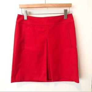 EUC pleated red LOFT skirt